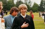 Снимок сделан в день окончания школы в Лэйксайде, 1973 год.
